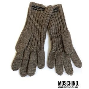 Logo & Charm gloves by Moschino Cheap and Chic